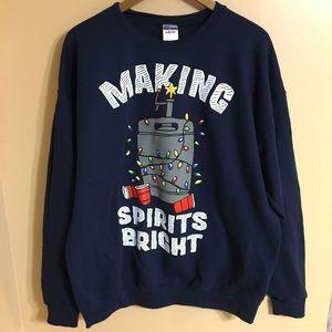 Making spirits bright holiday sweatshirt XL